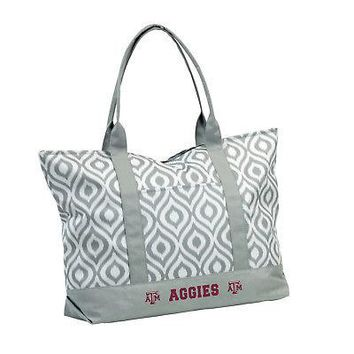 Licensed Texas A&M Aggies Official NCAA Ikat Tote by Logo Chair Inc. 057178 KO_19_1