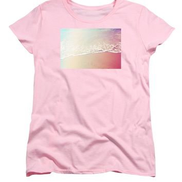 Ocean Air, Salty Hair, Watercolor Art By Adam Asar - Asar Studios - Women's T-Shirt (Standard Fit)