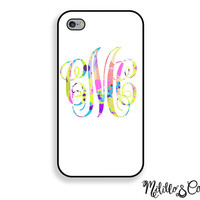 Colorful Lily Pulitzer Inspired Monogram Phone Case for iPhone 5, 5c, 6 and 6 plus & Samsung Galaxy s5 s6 and Note 3 and 4 and Phone Stand