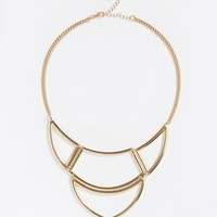 New Look Cut Out Arctic Crescent Necklace