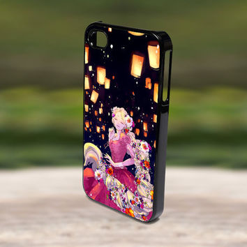 Accessories Print Hard Case for iPhone 4/4s, 5, 5s, 5c, Samsung S3, and S4 - Lights Rapunzel Tangled Disney