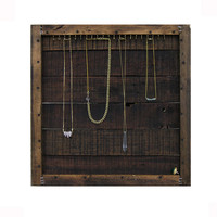 Jewelry Organizer // Necklace Storage // Jewelry Wall Hooks Holder Display // Organizer Furniture Eco-Friendly Decor Recycled Reclaimed Gift