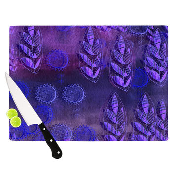 "Marianna Tankelevich ""Summer Night"" Purple Lavender Cutting Board"