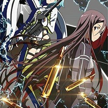 Officially Licensed Sword Art Online II: Sinon and Kirito Key Art Wall Scroll, 33 by 44-inch