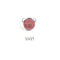 """YAY!"" Stamp Ring"