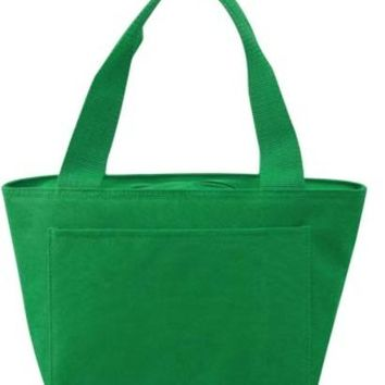 Insulated Cooler Tote Lunch Bag (Kelly) - CASE OF 24