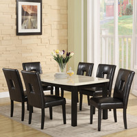 Furniture of America Clemmine 7-piece Dark Cherry Extendable Dining Set | Overstock.com Shopping - The Best Deals on Dining Sets