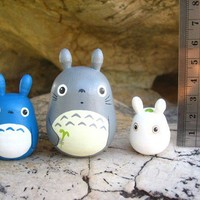 Set of 3 TOTORO DOLL Studio Ghibli mini figure model toy 4
