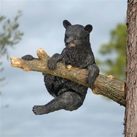 SheilaShrubs.com: Up a Tree Climbing Black Bear Cub Sculpture KY69869 by Design Toscano: Garden Sculptures & Statues