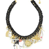 Gold Charm Love Drama Necklace by Juicy Couture, O/S