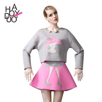 Lovely Girl Embroidery Princess Skirt Set Pullover Tops Hoodies [6407744516]