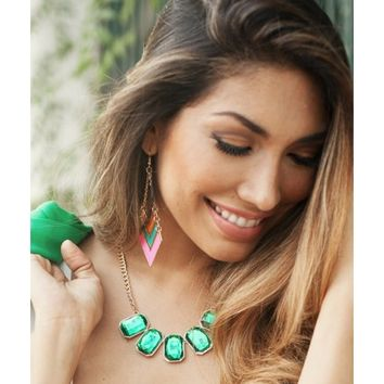 Emerald Green Statement Necklace