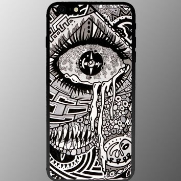 Illuminati Eye of God Crying Iphone 4 4s 5 5c 6 6plus Case (iphone 6 black)