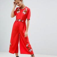 ASOS Embroidered Tea Jumpsuit at asos.com