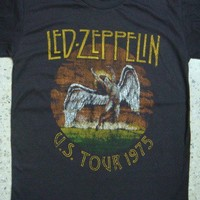 led zeppelin retro swan song us tour 1975 unisex by recordxnerd