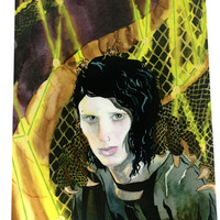 Rooney Mara As Lisbeth Salander From The Girl With The Dragon Tattoo Artist Print, Ink and Watercolor Dragon Tattoo Millennium Series Print