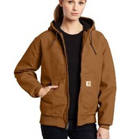 Carhartt Women's Quilted Flannel Lined Sandstone Active Jacket WJ130,Carhartt Brown,X-Small