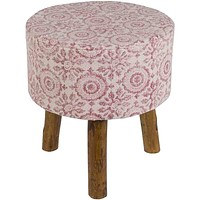 Indore Stool ~ Garnet