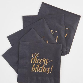 Cheers Bitches! Gold Party Napkins