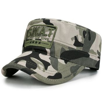 Camouflage Baseball Cap Hat Tactical Outdoor Mens Snapback Cap Hat Deadwood Camo