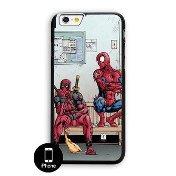 Funny Spiderman And Deadpool iPhone 6 Case