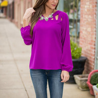 Full Of Affection Blouse, Purple