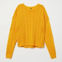 Knit Sweater - Yellow - Ladies | H&M US