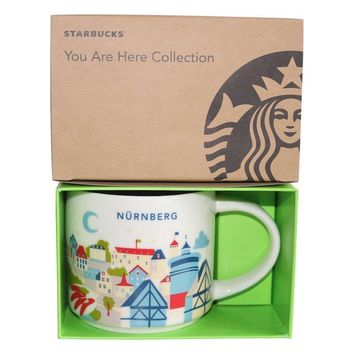 Starbucks You Are Here Collection Germany Nurnberg Ceramic Coffee Mug New Box