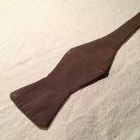 Handmade Solid Brown Bow Tie