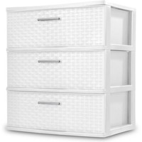 Sterilite 3-Drawer Wide Weave Tower, White - Walmart.com