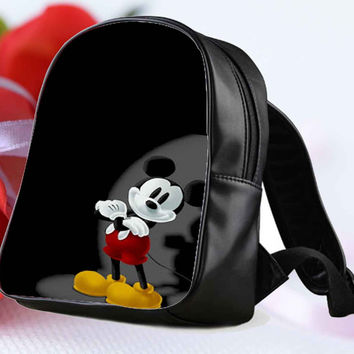 mickey mouse cute pose for Backpack / Custom Bag / School Bag / Children Bag / Custom School Bag **