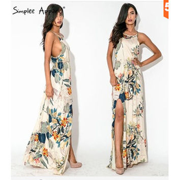 Vintage Print Dress Fashion Stylish Prom Dress One Piece Dress [4905486404]