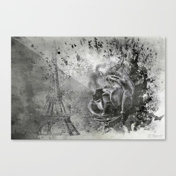 Last Time I Saw Paris Canvas Print by Theresa Campbell D'August Art