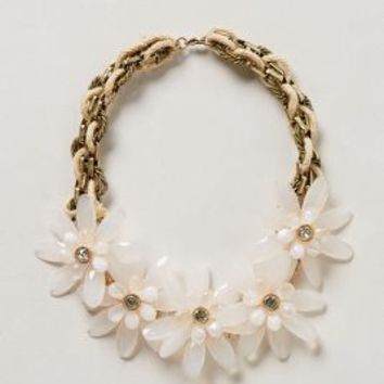 Marguerite Bib Necklace by Anthropologie White One Size Necklaces
