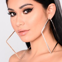 Touch Of Sass Hoop Earrings - Silver