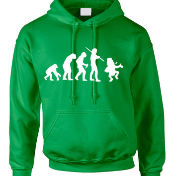 Adult Hoodie Irish Evolution Leprechaun St Patrick's Day Top