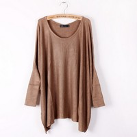 Best selling bat wing trendy knitted sweater-EMS