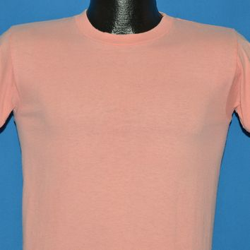 80s Miller Blank Coral Pink t-shirt Small