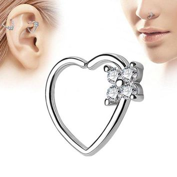 ac DCCKO2Q Heart Shape Nose Ring High-quality Multi-functional Earrings Piercing Tragus Jewelry