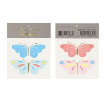 Neon Butterflies Tattoos