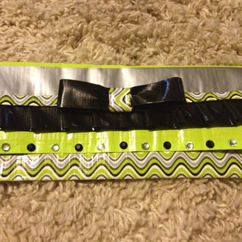 Women's duct tape wallet. Cute print. Original. One of a kind
