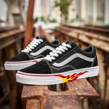 Vans X Thrasher Fire Lv 06 Low Tops Flats Shoes Canvas Sneakers Sport Shoes
