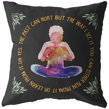Yoga Meditation Pillows Meditating Rafiki Either Run From It Or Learn From It