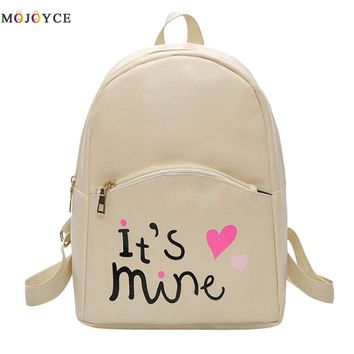 Fashion Women Backpack Leather School Bags for Girls Teenagers