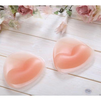 1 Pair Silicone Swimsuit Push Up Bikini Bra Inserts Breast BraTriangle Pads Enhancer High Quality