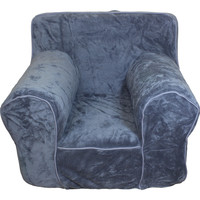 Grey Plush Chair Cover for Foam Childrens Chair