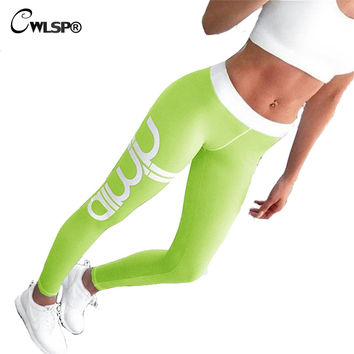 Sportswear Leggings Women Fitness Elastic Sexy Skinny Push Up Pants aimin Letter Print Trousers Plus Size workout legging QA1578