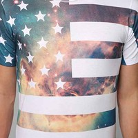 Space Flag Tee- White