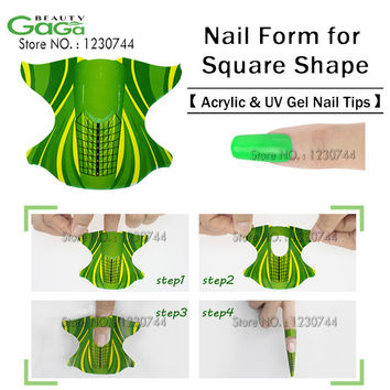Pro 300pcs/roll Plane-Shape Self Adhesive Gel Nail Form for nail Extension Nail Art Beauty Tool Stickers Free Shipping