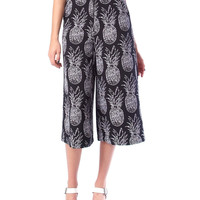 Tropical Act Culottes short - Black/White